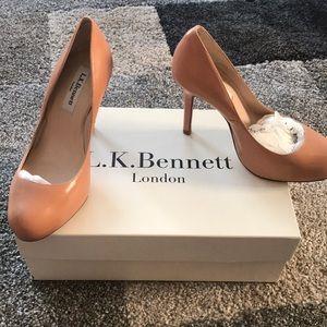 L.K. Bennett Harper Blush Leather